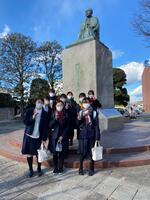 深谷駅前渋沢栄一銅像